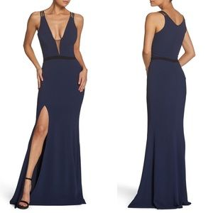 Dress the Population Lana Plunging Strappy Gown